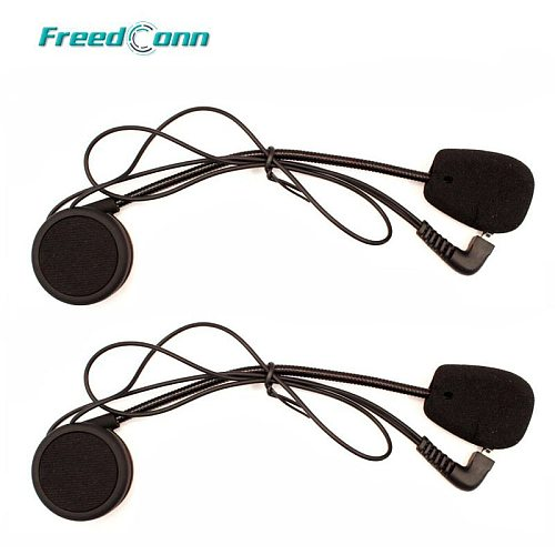 2Set Headphone Microphone Accessories hard Earphone Suit for  T-COMFM T-COMSC FDC-01VB COLO TCOM-02 Motorcycle Helmet Intercom