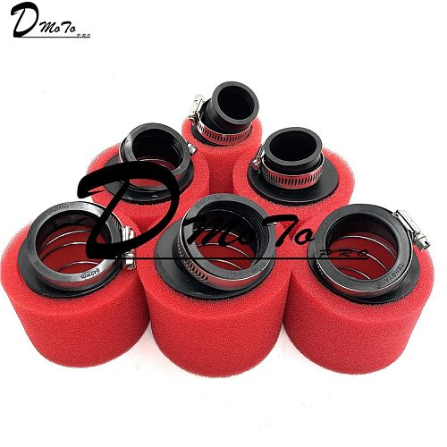 Red 32mm 35mm 38mm 42mm 45mm 48mm Bend Elbow Neck Foam Air Filter Sponge Cleaner Moped Scooter Dirt Pit Bike Motorcycle Kayo BSE