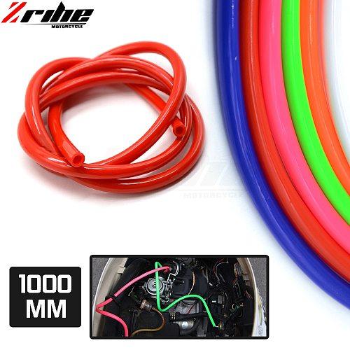 FOR 1M Motorcycle Fuel Hose Oil Tube Pipeline Rubber Line Universal for Motocross Dirt Bike ATV Racing Sport Bike Off Road