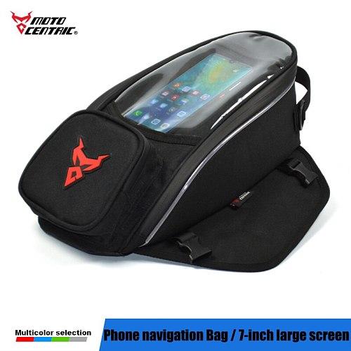MJ MOTO Top 2L Screen Big Storage Motorcycle tank Bags Motorbike Oil Fuel Bag Magnetic Motocross Motorcycle Tank Bags Saddle Ba