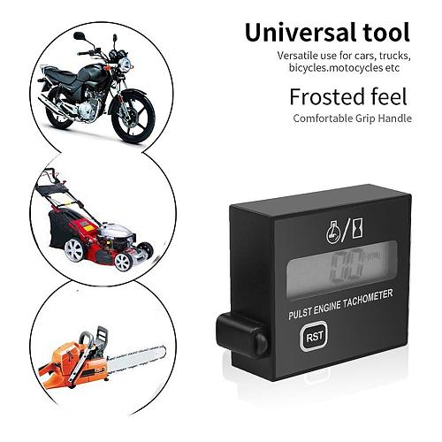 Motorcycle Chainsaw High Tachometer Gasoline Engine lawn Digital Display Inductive Pulse Speed Tachometer