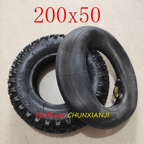 High Quality (8  X 2 ) 200X50 (8 Inch)Tire Fit for Electric Gas Scooter & Electric Scooter(inner Tube Included) Wheelchair Wheel