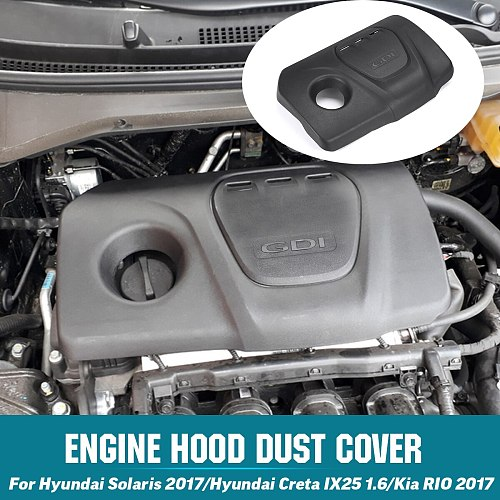 Car Front Engine Hood Dust Cover Cap 292402B930 For Hyundai Solaris Creta IX25 1.6 1.6L For Kia RIO 2017 For Sonata Tucson