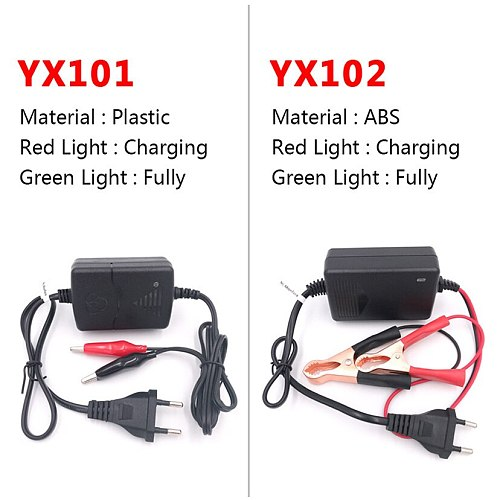 100V-240V Portable 12V Smart Lead-Acid Battery Charger Automotive Motorcycle Power Charge Adapter US EU Plug Black Auto Car Tool