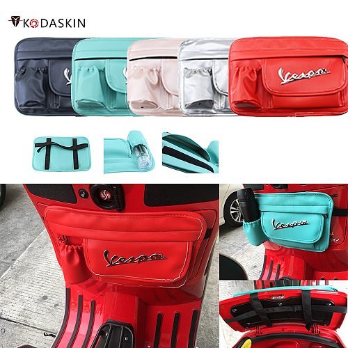 Kodaskin Leather Waterproof Side Bag Tank bag Glove Bags Storage Bag For Vespa gts300 GTS LX LXV Sprint Primavera 50  lambretta