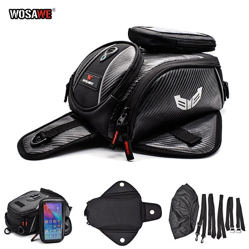 WOSAWE 8L Motorcycle Tank Bag Mobile Phone Navigation Tank Bag Multifunctional Oil Reservoir Package motorbike oil Fuel Tank Bag