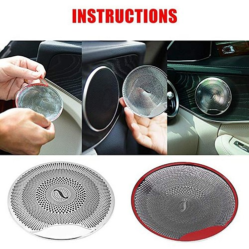 Car Audio Speaker Cover Door Speaker Cover For Mercedes-Benz E/C/Glc Class W213 W205