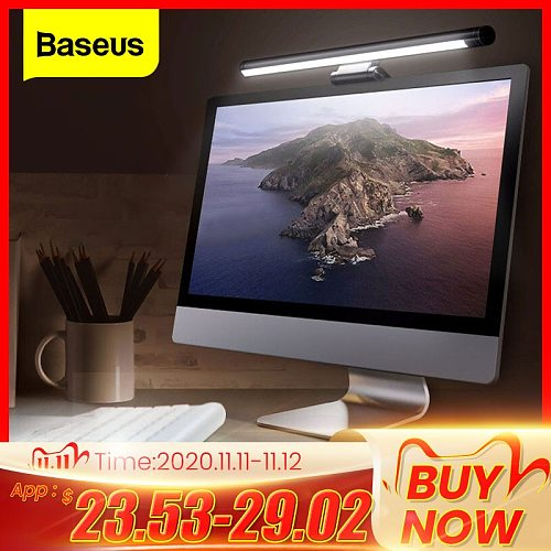 Baseus Screenbar LED Desk Lamp PC Computer Laptop Screen Bar Hanging Light Table Lamp Office Study Reading Light For LCD Monitor