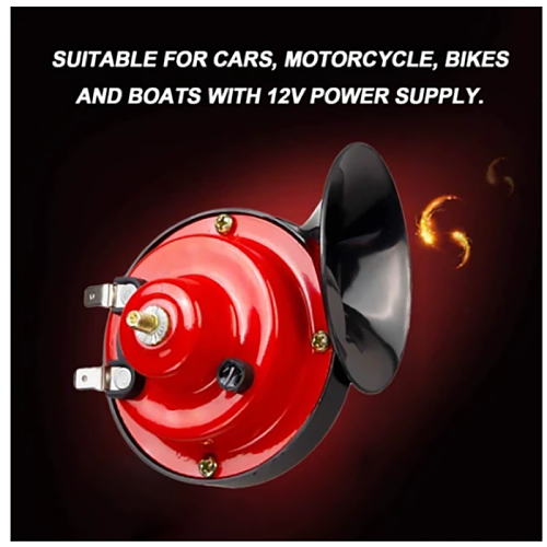 12V 110 DB Super Train Horn for Trucks Loud Air Electric Snail Double Horn Raging Sound for Cars Motorcycle Bikes and Boats