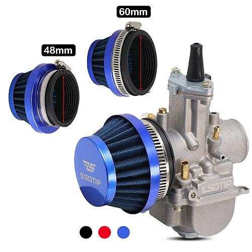 ZSDTRP 48mm 55mm 60mm Air Filter Intake Universal for Off-road Motorcycle ATV Quad Dirt Pit Bike Mushroom Head Air Filter