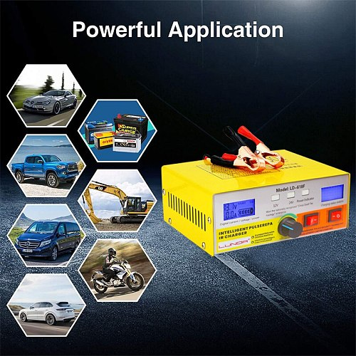 Automatic Intelligent Pulse Repair Type 400AH Car Battery Charger   for 12V 24V Car Motorcycle Truck Auto Motor Power Charging