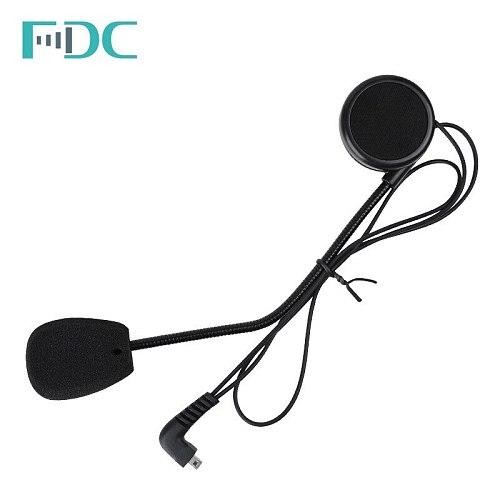2Set Headphone Microphone Accessories hard Earphone Suit for  T-COMFM T-COMSC FDC-01VB COLO TCOM-02 Motorcycle Helmet Intercom