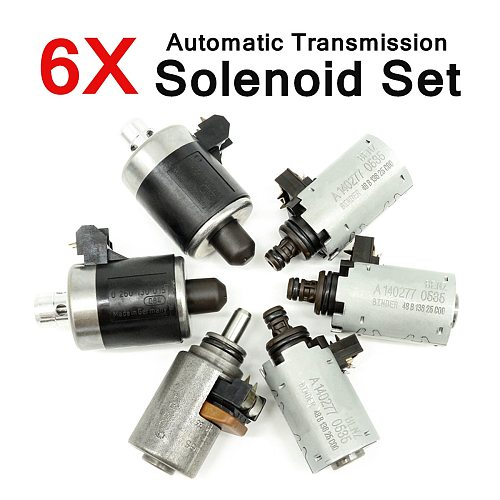 6Pcs 722.6 Solenoids Fit for Mercedes for Benz 5-SPEED Automatic Transmission Part Alloy Plastic Assembly Products Motors Parts