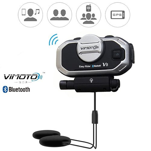 English Version Easy Rider vimoto V8  Helmet Bluetooth Headset Motorcycle Stereo Headphones For Mobile Phone and GPS 2 Way Radio