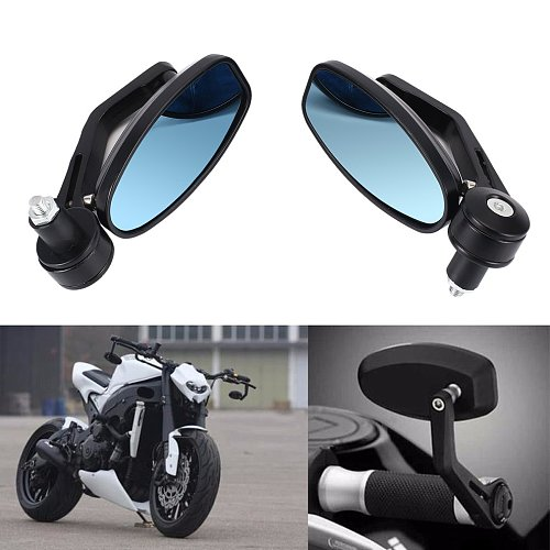 1Pair Motorcycle 7/8  Handle Bar End Rearview Side Mirrors Fit for Honda for  KTM Hot