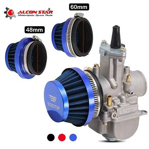 Alconstar-48mm 55mm 60mm Motorcycle Air Filter Cleaner for Dellorto SHA Carb Carburetor 50cc 70cc 90cc 110cc  ATV Dirt Pit Moped