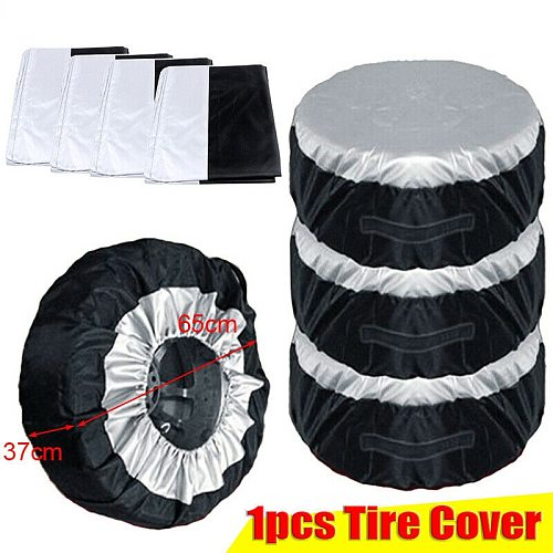 Car Accessories Tire Cover Case Car Spare Tire Cover Storage Bags Carry Tote Polyester Tire For Cars Wheel Protection Covers