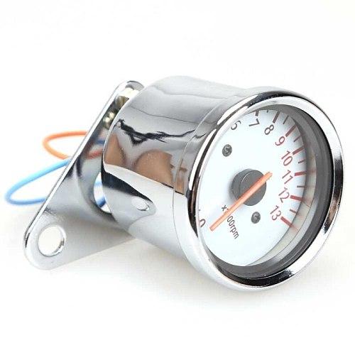 Universal Motorcycle Scooter 13000RPM Analog Tachometer Gauge Night Light