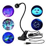 LED Clip Desk Lamp Rechargeable USB Led Flexible Table Lamps Cash Medical Product Detector UV Gel Curing Light For DIY Nail Art