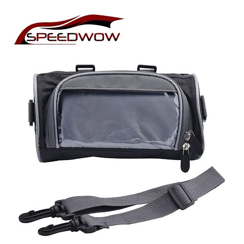 Motorcycle Front Handlebar Storage Bag Universal Waterproof Front Fork Pouch Electric Car Bicycle Handlebar Bag Capacity 2.5L