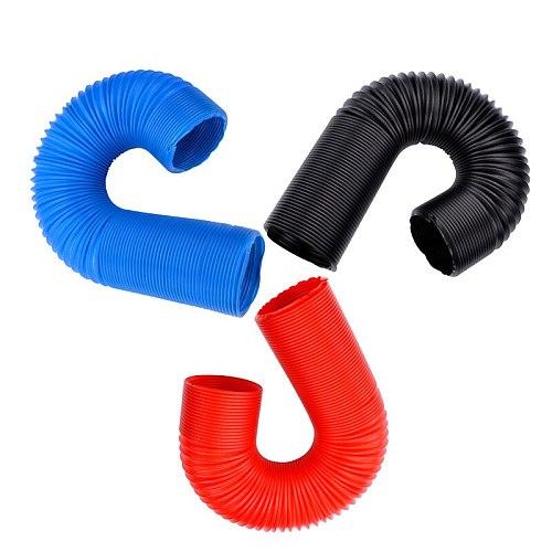 SPEEDWOW Car Engine Flexible Air hose Air Intake Pipe Inlet Hose Tube Car Air Filter Intake Cold Air Ducting Feed Hose Pipe