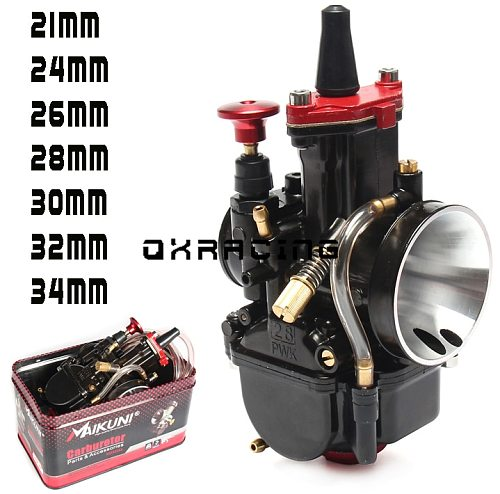 High Quality 21 24 26 28 30 32 34mm PWK carburetor for MAIKUNI 2T 4T engine motorcycle scooter UTV ATV universal