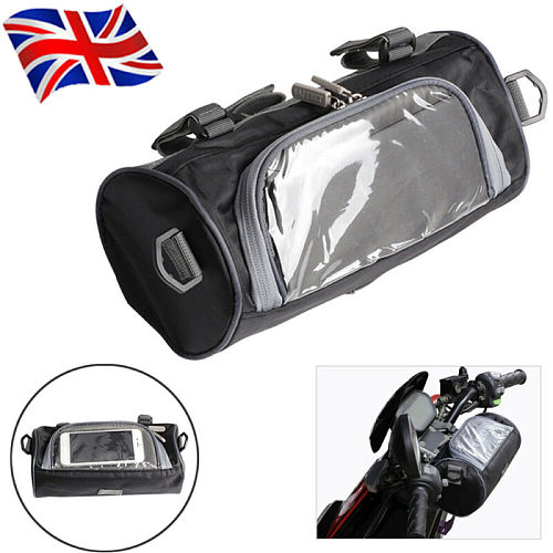 Universal Black Waterproof Motorcycle Bag Motorcycle Magnet Tank Bag Motorcycle Front Windshield Bag Handlebar Storage Container