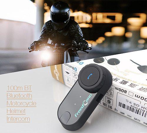 Original FreedConn TCOM-OS Motorcycle Intercom Bluetooth Helmet Headset T-COM OS 2 Riders FM BT Interphone Intercomunicador