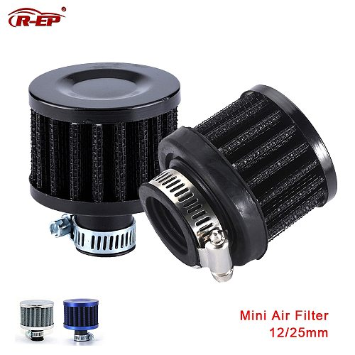R-EP Universal Car Air Filter 12mm 25mm for Motorcycle Cold Air Intake High Flow Crankcase Vent Cover Mini Breather Filters