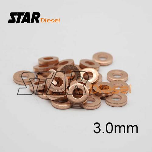 30 PCS packing 9001850C Common Rail Injector Nozzle copper washer 9001-850C and injection copper ring 3mm thickness 9001 850C