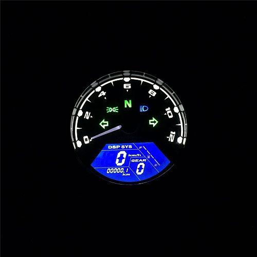 Motorcycle Meter LED Digita Indicator Light Tachometer Odometer Speedometer Oil Meter Multifunction With Night Vision Dial