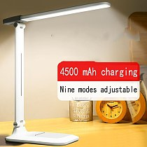 LED Desk Lamp Free shipping  Learning College Student Dormitory Artifact Rechargeable usb table Lamp Bedroom Room Bedside Lamp