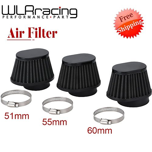 Motorcycle Air Filter 60mm 55mm 54mm 51mm 50mm Universal for Motor Car bike Cold Air Intake High Flow Cone Filter Mushroom Head