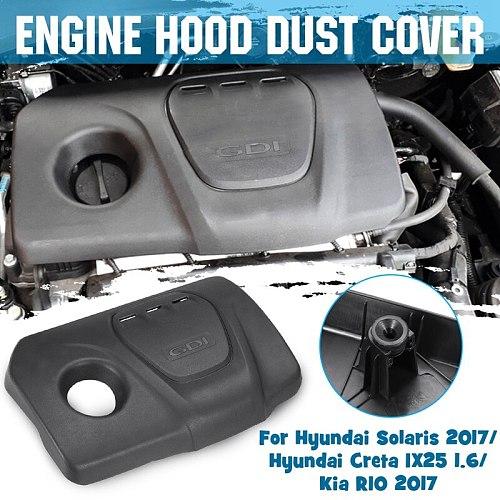 Car Front Engine Hood Dust Cover for Hyundai Solaris Creta IX25 1.6 1.6L Sonata Tucson for Kia RIO 2017