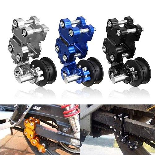 Universal  Aluminum Adjuster Chain Tensioner Roller Black Silver Blue For Motorcycle /Chopper ATV