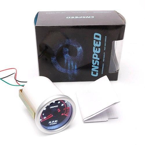 CNSPEED Auto Car Tachometer Tacho Gauge 0~8000 RPM Meter 2  52mm Universal Car Motor White Led Meter Pointer RPM 12V Gasoline
