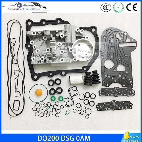 DQ200 OAM DSG Transmission Housing + Gearbox Overhaul Gasket Filter Rubber Ring Dirt-proof Cover Kit For Audi Skoda 0AM325066AC