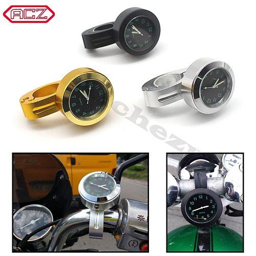 Speedometro Universal ACZ 7/8 1  Motorcycle Handlebar Black Dial Clock Watch For Harley Cruiser Chopper Honda Yamaha