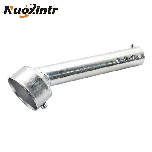 Nuoxintr Motorcycle Exhaust Muffler Adjustable DB Killer Silencer Noise Sound Eliminator Universal Chrome 48mm