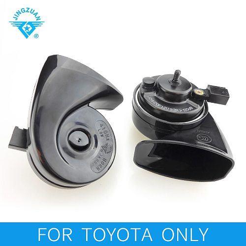 JINGZUAN 2019 New Arrival Patent Loud Snail Car Horn High Quality 12V Horn Waterproof 105-115DB 2PC Car Styling FOR TOYOTA ONLY
