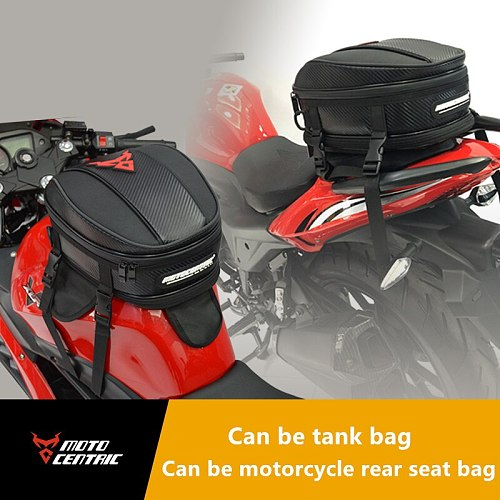 Waterproof Motorcycle Oil Tank Bag Strong Magnet Adsorption High Capacity Bag Motorcycle Racing Tail Back Seat Bags Strap Fixing