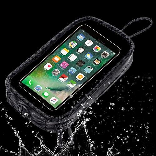 WOSAWE Magnetic Motorcycle Tank Bag Mobile GPS Navigation Holder Bags Waterproof Touch Screen Motorbike Front Tube Phone Package