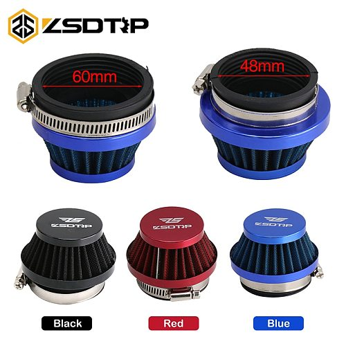 ZSDTRP 48mm 55mm 60mm Air Filter Intake Universal for Off-road Motorcycle ATV Quad Dirt Pit Bike Mushroom Head Air Filter