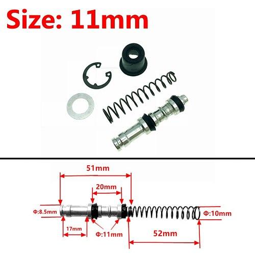Motorcycle Clutch Brake Pump 11mm 12.7mm 14mm 16mmPiston Plunger Repair Kits Master Cylinder Piston Rigs Repair Accessories 1set