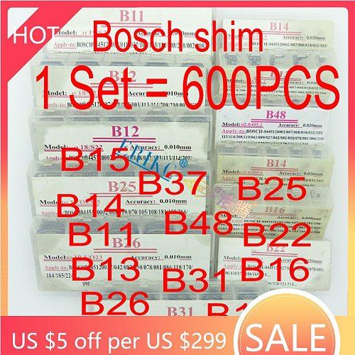 ERIKC Injector Shims Gaskets B11 B12 B13 B14 B16 B21 B22 B23 B24 B25 B26 B31 B48 Nozzle Valve Adjust Washer Repair for Bosch
