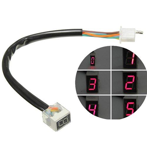 Led Universal Digital Gear Indicator Motorcycle 8 Digital Display Speedometer Indicator Motorcycle Display Shift Lever Sensor