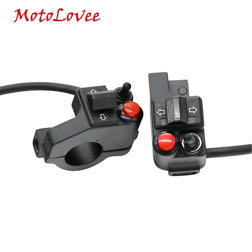Motolovee Motorcycle Modified Handlebar Multi-function Headlight Switch Steering Switch Horn Double Flash