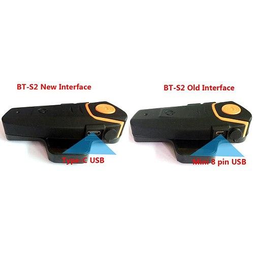 Type-C USB Microphone Speaker For BT-S2 BT-S3 Motorcycle Bluetooth Intercom Interphone For Open Helmet Full Face Helmet