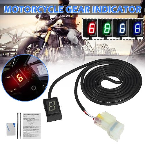 Motorcycle Ecu Direct Mount 1-6 Speed Gear Display Indicator For Honda For Kawasaki ER6N Z1000SX Ninja300 Z1000 Z800 Z750 versys