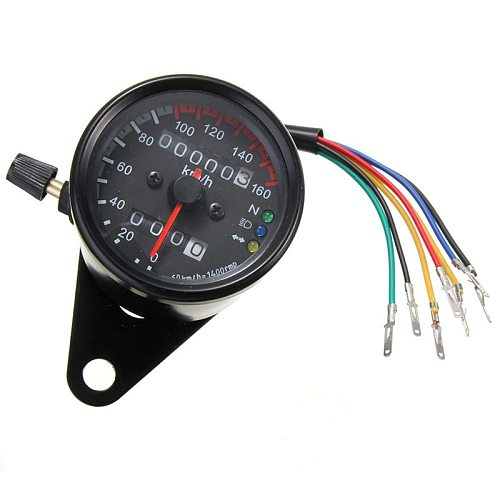 Universal Motorcycle Speedometer Odometer 12V Motorcycle Dual Speed Meter with LED Indicator Speedometer Motorcycle